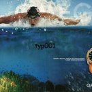 OMEGA - 2005 - WATER IS MICHAEL PHELPS' NATURAL ELEMENT - PLANET OCEAN PRINT AD