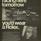 ROLEX - 1969 - IF YOU WERE RACING HERE YOU'D WEAR A ROLEX FORMULA 1 PRINT AD