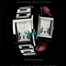 BVLGARI BULGARI - 2001 - THE RECTANGLE WATCH PRINT AD