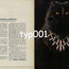 BOUCHERON - 1979 - HIGH SOCIETY CAT VLADIMIR - FLAWLESS PERFECTION PRINT AD