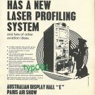 AUSTRALIA - 1973 - NEW LASER PROFILING SYSTEM AND OTHER AVIATION IDEAS PRINT AD