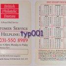 BRITISH PHILATELIC BUREAU 1992 STAMPS WALLET CALENDAR