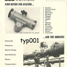 FAURE HERMAN - 1973 - FLOW METERS FOR AVIATION PRINT AD