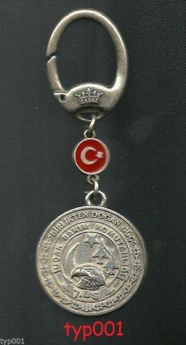 TURKISH AIR FORCE 7. BASE PHANTOM PHIXERS LOGO MEDAL KEY CHAIN