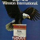 WINSTON - 1980 - AMERICA'S ULTIMATE TASTE PRINT AD