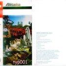 ALITALIA ITALIAN AIRLINES 1980 TICKET JACKET w/ AVIS AD