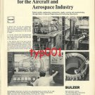SULZER 1972  CONCORDE TEST FACILITIES & STRÜVER 1972 AIRPORT POWER PRINT ADS