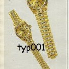 ROLEX - 1987 - BEYER - DAY DATE LADY DATEJUST PRINT AD