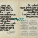 SWISSAIR - 1973 - TO REMAIN THE AIRLINE WITH OUTSTANDING SERVICE PRINT AD