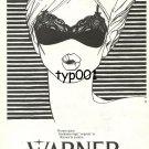 WARNER - 1985 LINGERIE NICE GRAPHICS TURKISH PRINT AD