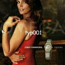 OMEGA - 2004 - CINDY CRAWFORD CHOICES SEXY PRINT AD