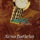 ALEXIS BARTHELAY - 1988 - A SIGN OF INNER WEALTH PRINT AD