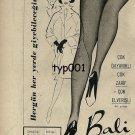 BALI - 1963 - RARE PANTYHOSE WEAR EVERYWHERE EVERY DAY TURKISH PRINT AD