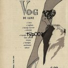 VOG - 1963 - RARE PANTYHOSE FAVORITE OF WELL DRESSED LADIES TURKISH PRINT AD