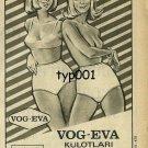 VOG - EVA - 1966 - RARE  PANTIES TURKISH PRINT AD
