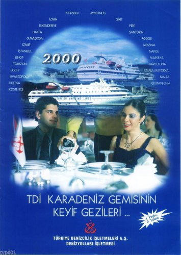 TURKISH MARITIME LINES 2000 CRUISE SCHEDULE & TARIFFS