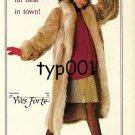 THE FUR MARKET- 1988 - LADY IN FUR COAT BY YVES FORTE & PANTYHOSE PRINT AD