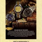 ROLEX - 1996 - TREASURES OF THE DEEP PRINT AD