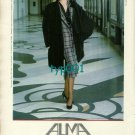 ALMA - 1986 - LADY IN BLACK FUR COAT AND HAT AND PANTYHOSE PRINT AD