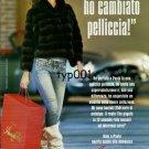 ANNABELLA FURS - 2009 - THIS YEAR I CHANGED MY FUR ITALIAN PRINT AD