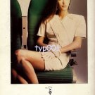 TRUSSARDI - 1988 - A PLANE A WOMAN ALL DRESSED BY SAME STYLIST ALITALIA PRINT AD