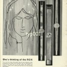 ROX- 1968 - SHE IS THINKING OF ROX VINTAGE SWISS WATCHES PRINT AD