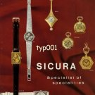 SICURA - 1968 - SPECIALIST OF SPECIALITIES DRESS POCKET WATCHES VINTAGE PRINT AD