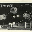 MONTREMO - 1968 - VARIOUS CLOCK MODELS VINTAGE PRINT AD