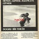 OLYMPIC AIRWAYS - 1985 - RIGHT CHOICE TO RHODES MYKONOS SUN FUN TURKISH PRINT AD