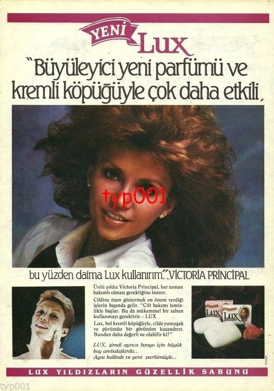 LUX- 1983 - VICTORIA PRINCIPAL BEAUTY SOAP TURKISH PRINT AD