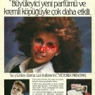 LUX- 1983 - VICTORIA PRINCIPAL BEAUTY SOAP TURKISH PRINT AD