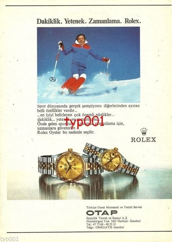 ROLEX - 1982 - PUNCTUALITY TALENT TIMING TURKISH PRINT AD