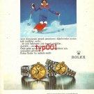 ROLEX - 1982 - PUNCTUALITY TALENT TIMING TURKISH PRINT AD