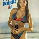 PEPSI COLA - 1984 - COME ON PEPSI GIRL IN A BIKINI TURKISH PRINT AD