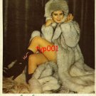 PAK KÜRK FURS - 1982 - LADY IN FUR COAT & HAT TURKISH PRINT AD