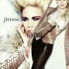 JITROIS - 2009 -  LADY IN LEATHER & FUR COAT FRENCH PRINT AD