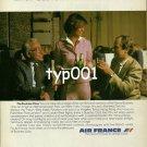 AIR FRANCE - 1980 - STEWARDESS LA CLASSE AFFAIRES PRINT AD - 1