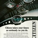 CITIZEN - 1988 - TAKES YOUR TIME AS SERIOUSLY AS YOU DO PRINT AD