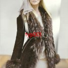 ESKEY FUR - 2010 - SEXY LADY IN FUR LINED LEATHER COAT PRINT AD & JANET JACKSON
