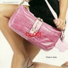 PAVONI - 2010 - SEXY LADY WITH PINK LEATHER BAG IN MINI SKIRT HOSIERY PRINT AD