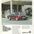 BMW - 1986 SERIES 7 NEW VALUES IN ADVANCED TECHNOLOGY CLASS TURKISH PRINT AD
