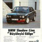 BMW - 1986 SHADOW LINE TURKISH PRINT AD