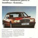 MERCEDES BENZ - 1986 MODEL 190 DYNAMISM TRUST ECONOMY TURKISH PRINT AD