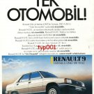 RENAULT - 1985 THE ONLY CAR SELECTED BEST TWO YEARS IN A ROW TURKISH PRINT AD