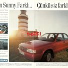 NISSAN - 1990 SUNNY DIFFERENT BECAUSE YOU ARE DIFFERENT TURKISH PRINT AD
