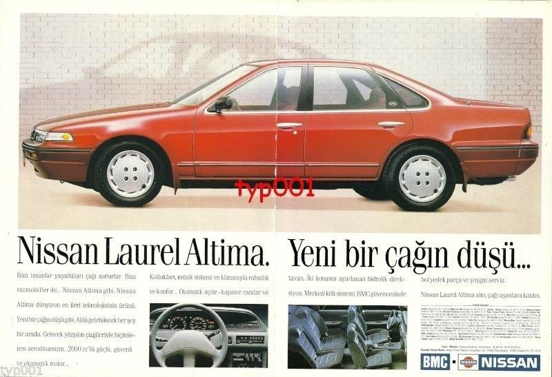 NISSAN - 1991 LAUREL ALTIMA THE DREAM OF THE NEW AGE TURKISH PRINT AD