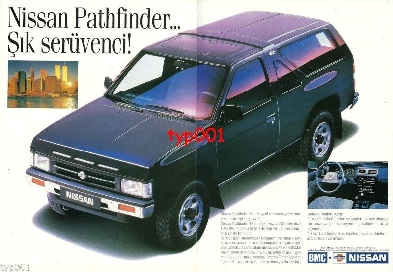 NISSAN - 1991 PATHFINDER THE CHICK ADVENTURER TURKISH PRINT AD