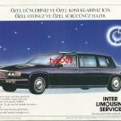 INTER LIMOUSINE SERVICE - 1986 CADILLAC LIMOS FOR SPECIAL DAYS TURKISH PRINT AD