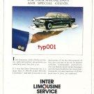 INTER LIMOUSINE SERVICE - 1986 MERCEDES BENZ LIMOS TURKISH PRINT AD
