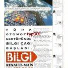 RENAULT - 1993 COMPUTERIZED INFORMATION SERVICE TURKISH PRINT AD